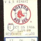 NEW YORK YANKEES BOSTON RED SOX 1986 FENWAY PARK TICKET STUB DON MATTINGLY HR JIM RICE