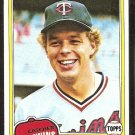 Minnesota Twins Butch Wynegar 1981 Topps Baseball Card # 61 Nr Mt