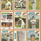 1977 TOPPS NEW YORK METS TEAM LOT {23} JOE TORRE KOOSMAN KINGMAN +++