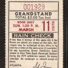 MONTREAL EXPOS ATLANTA BRAVES 1979 SPRING TRAINING TICKET STUB WEST PALM BEACH STADIUM