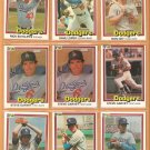 1981 Donruss Los Angeles Dodgers Lot 22 diff Garvey Sutton Russell Welch Cey +