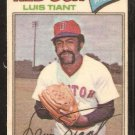 1977 Topps Cloth Sticker # 48 Boston Red Sox Luis Tiant