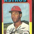 1975 Topps # 143 Houston Astros Cliff Johnson