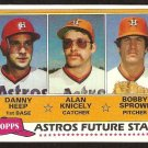 1981 Topps # 82 Houston Astros Future Stars Danny Heep Alan Knicely Bobby Sprowl nr mt