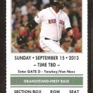 New York Yankees Boston Red Sox 2013 Ticket Clay Bucholtz Mike Napoli HR Ichiro Suzuki
