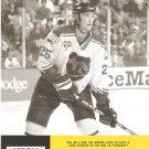 Boston Bruins Hal Gill February 1999 NESN Cable TV Schedule Flyer Big East Big 10 Pac 10