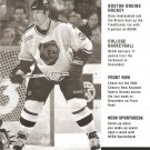 Boston Bruins Dave Andreychuk December 1999 NESN Cable TV Schedule Flyer Big East Big 10 Pac 10