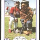 1987 Smokey The Bear Fire Prevention Card # 4 Chicago White Sox Harold Baines
