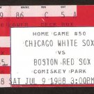 BOSTON RED SOX @ CHICAGO WHITE SOX COMISKEY PARK TICKET 2 GAMES ROGER CLEMENS 15K WADE BOGGS 4 HITS