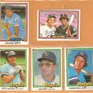 1981 Donruss Kansas City Royals Lot 5 2 George Brett LaCock Frey Mulliniks