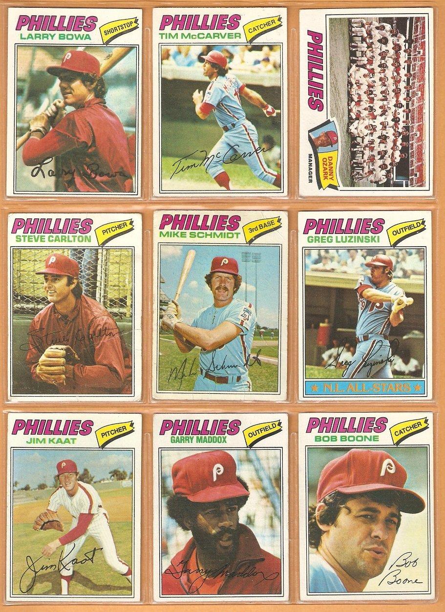 1977 Topps Philadelphia Phillies Team Lot 25 diff Mike Schmidt Steve Carlton Luzinski Bowa McCarver