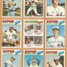 1977 Topps Montreal Expos Team Lot 27 diff Andre Dawson RC Gary Carter Parrish Foli Rogers Team
