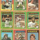 1975 Topps Pittsburgh Pirates Lot 18 diff Willie Stargell Al Oliver Dave Parker Sanguillen Reuss