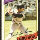 1980 O Pee Chee OPC # 339 Boston Red Sox Rick Burleson