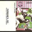 Boston Red Sox 1987 Pocket Schedule Farnham's Fried Clams Essex MA