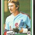 1981 Topps # 97 Montreal Expos Chris Speier