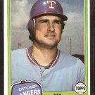 1981 Topps # 95 Texas Rangers Jim Sundberg