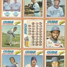 1977 Topps Chicago Cubs Lot 24 diff Bill Madlock Team Card Reuschel Hundley +