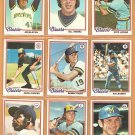 1978 Topps Milwaukee Brewers Team Lot 26 diff Robin Yount Bando Cooper Hisle Money