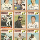 1977 Topps Detroit Tigers Team Lot 21 diff Freehan Leflore Thompson Rookie Staub Horton Stanley