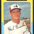 1975 Topps # 341 Montreal Expos Hal Breeden