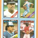 1988 Topps Wax Box Panel Red Sox Don Baylor Phillies Bedrosian Blue Jays Beniquez Angels Bob Boone