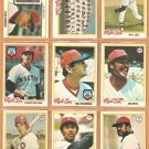 1978 Topps Boston Red Sox Team Lot 28 diff Yastrzemski Fisk Jim Rice Tiant Evans Jenkins +