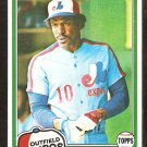 1981 Topps # 125 Montreal Expos Andre Dawson nr mt