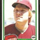 1981 Topps # 131 Philadelphia Phillies Keith Moreland nr mt