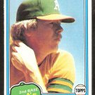 1981 Topps # 133 Oakland A's Athletics Jeff Cox nr mt