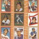1982-83 Topps Stickers California Angels Lot 16 Rod Carew Reggie Jackson Grich Lynn Boone Baylor