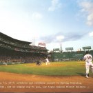 2010-2011 Boston Red Sox Thank You Folio With Fenway Park Game photo