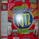 2001 Ritz Crackers Box With New York Yankees Derek Jeter Cincinnati Reds Ken Griffey