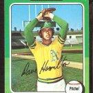 1975 Topps # 428 Oakland A's Athletics Dave Hamilton vg/ex
