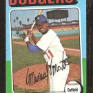 1975 Topps # 414 Los Angeles Dodgers Manny Mota vg+
