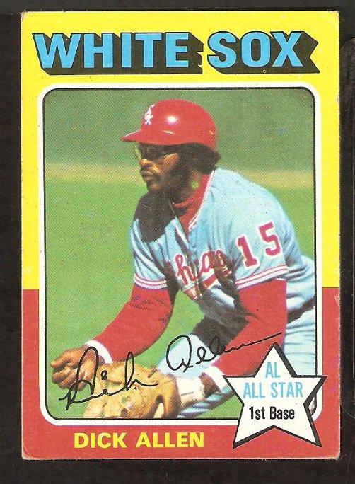 1975 Topps # 400 Chicago White Sox Dick Allen vg/ex