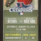 Houston Astros Boston Red Sox 2014 Ticket David Ortiz 400th HR Chris Carter Jason Castro