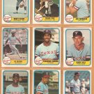 1981 Fleer Texas Rangers Team Lot 21 diff Fergie Jenkins Mickey Rivers Buddy Bell Al Oliver