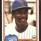 1981 Topps # 151 New York Mets Claudell Washington nr mt