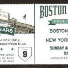 NEW YORK YANKEES BOSTON RED SOX 2012 TICKET SWISHER HR DEREK JETER 3 HITS