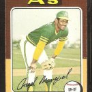 1975 Topps # 452 Oakland A's Athletics Angel Mangual good