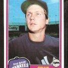 1981 Topps # 159 New York Yankees Brian Doyle nr mt