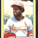 1981 Topps # 165 St Louis Cardinals Tony Scott nr mt