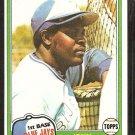 1981 Topps Baseball Card # 169 Toronto Blue Jays John Mayberry nr mt