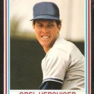 1990 Post Cereal # 8 Los Angeles Dodgers Orel Hershiser nr mt