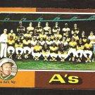 1975 Topps Baseball Card # 561 Oakland A's Athletics Team Card good marked cl