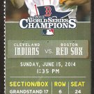 Cleveland Indians Boston Red Sox 2014 Ticket Michael Brantley Nick Swisher HR