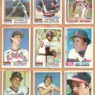 1982 Topps California Angels Team Lot 28 Rod Carew Don Baylor Grich Downing