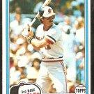 1981 Topps Baseball Card # 188 Baltimore Orioles Doug DeCinces nr mt
