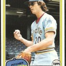 1981 Topps Baseball Card # 187 Seattle Mariners Mike Parrott nr mt